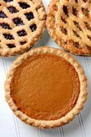 Three Pies Closeup photo