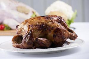 Grilled turkey on the plate