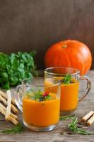 Pumpkin soup, photo