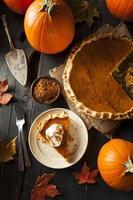 Homemade Pumpkin Pie for Thanksgiving photo