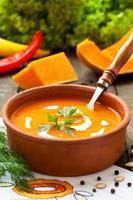 Pumpkin cream soup photo