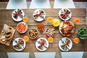 Thanksgiving festive table photo