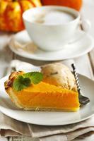 Pumpkin pie. Selective focus