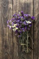 bouquet of dried meadow flowers