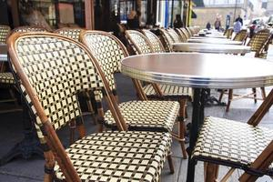 Traditional parisian coffee house