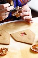 fabricação de casa de pão de gengibre