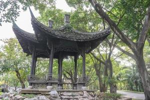 House with chinese style roof photo