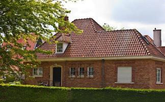 Beautiful brick house. Bruges. Belgium.