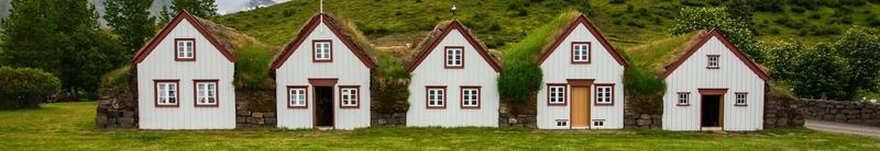 Ancient houses in Laufas, Iceland photo