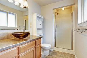 Bathroom interior in new house photo