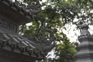 Part of traditional roof house/ temple photo