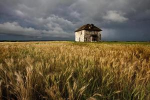 Storm Clouds Prairie Sky Stone House
