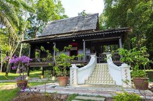 Casa de madera tradicional en Malaca, Malasia
