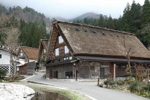 old house in japanese village shirakawago photo