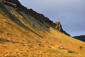 hillside in sun photo