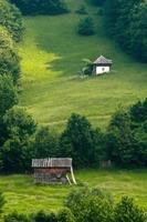 Small house on a hillside