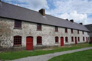 empty but renovated terraced houses photo