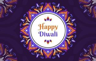 Floral Inspired Rangoli For Diwali vector