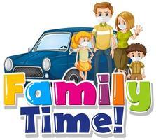Cartoon family time design vector