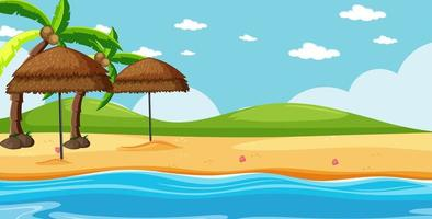 Natural, tropical beach landscape background vector