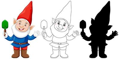 Garden gnome character set