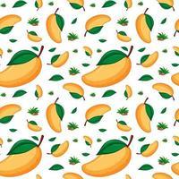 Mango fruit seamless pattern background