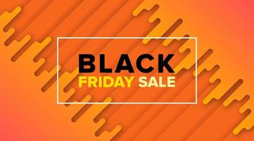 Black Friday Orange Sale Banner Design vector