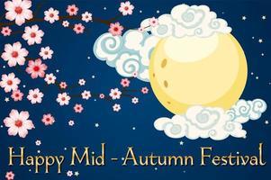 Mid-autumn festival banner background vector