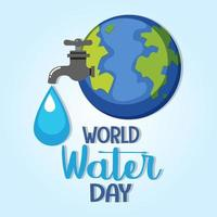 World water day celebration banner vector