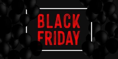 diseño de banner de venta de viernes negro