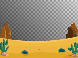 Desert ground scene background vector