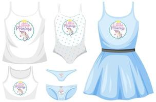 Girl outfit set with unicorn