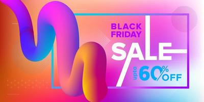 Black Friday Sale 3D Ribbon Banner Design vector