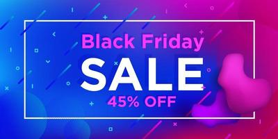 Black Friday Liquid Gradient Sale Banner Design vector