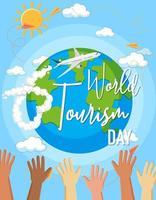 banner del día mundial del turismo vector