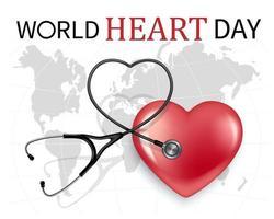 World heart day banner vector