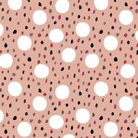 Pink seamless pattern with polka dots