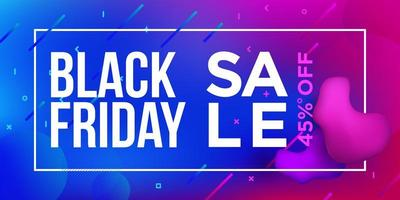 Black Friday Sale Gradient Banner Design vector