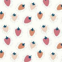 Strawberry seamless pattern background