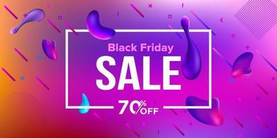 zwarte vrijdag verkoop banner ontwerp vloeibare banner