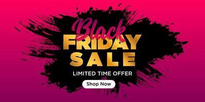 banner de venta de viernes negro vector