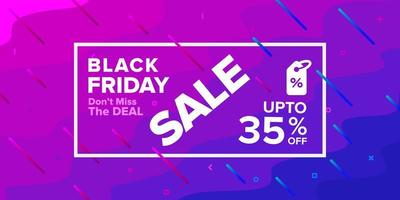 Black Friday Purple Sale Banner Design vector