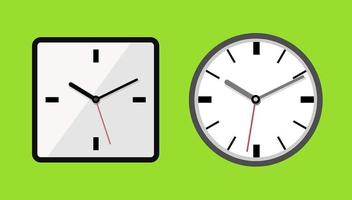 Clock icons isolated