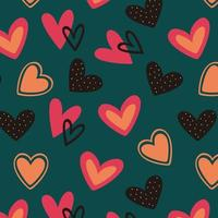 Colorful heart seamless pattern background vector