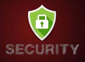 icono de escudo de seguridad vector