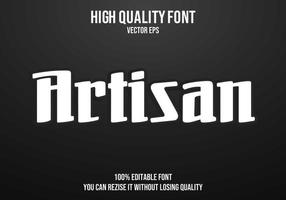 efecto de texto editable artesanal vector