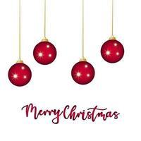 diseño de celebración de bolas de navidad rojas