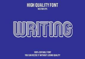 escribir efecto de texto editable retro