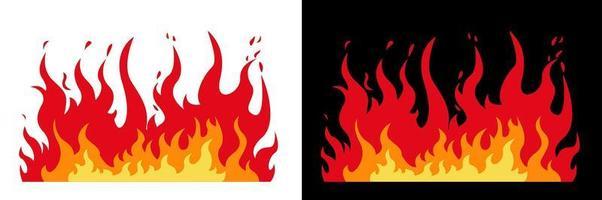 diseño de llamas de fuego vector