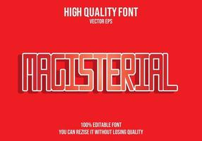 Magisterial Red Text Effect vector